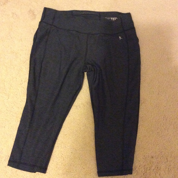 00eb07274a5b93 Danskin Pants | Dark Charcoal Gray Workout Capris | Poshmark